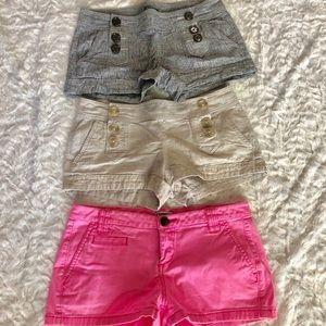 Women's express shorts lot of 3